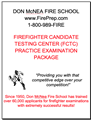 Fire Candidate Testing Center (FCTC) - Mailed