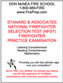 Stanard & Associates National Firefighter Selection Test (NFST) - Mailed