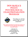 Police Officer Psychological Test Prep - Mailed