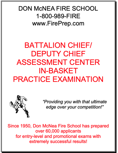 In-Basket Exam Prep - Battalion Chief/Deputy Chief - Mailed